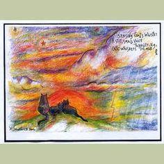 Sensing Gods Whisper Original Cat Art Print