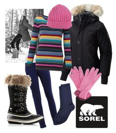 """Tame Winter with SOREL: Contest Entry"" by dayna-marie on Polyvore featuring FAY, SOREL, EAST, Barneys New York, Gizelle Renee, YMC and sorelstyle"