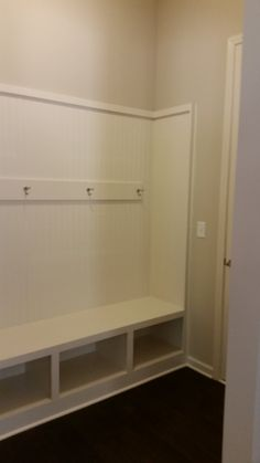 Bench & Cubbies, View from Kitchen