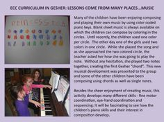 AN EXAMPLE OF ECC CURRICULUM IN GESHER:  Skills Developed Through Music