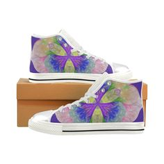 Iris Women's Classic High Top Canvas Shoes (Model 017).