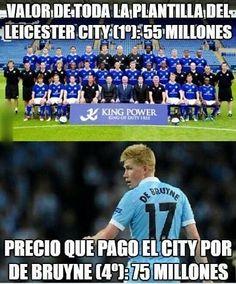 De Bruyne vs Leicester