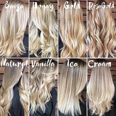 Image result for shades of blonde hair color