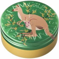 A kangaroo jumps with her joey past the bright yellow mimosa blossoms that explode in colour all over the bush. Yellow and green give Australis its Aussie national colours.  #Beauty  #Vegan  #natural  #STEAMCREAM  #Moisturiser  #Australia