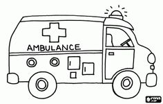 Large Coloring Pages Of An Ambulance from Ambulance Coloring Pages. What kind of car is carried on the streets to help people in trouble? Who turns on the siren so that everyone around is giving way? Monster Truck Coloring Pages, Barbie Coloring Pages, Cartoon Coloring Pages, Coloring Pages For Kids, Coloring Books, Kids Coloring, Lego Ambulance, Transformers Coloring Pages, Activities For Kids