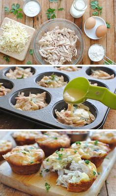 Mini Tex-Mex Chicken and Cheese Pies 24 Easy Meals You Can Make With Rotisserie Chicken Healthy Shredded Chicken Recipes, Mexican Food Recipes, Recipes With Rotisserie Chicken, Easy Food To Make, Spice Girls, Quick Meals, Simple Meals, Easy Dinner Recipes, Food Dishes