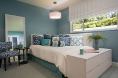 Mullholland Bathrooms and Bedroom - transitional - bedroom - los angeles - Linda Rosen Interiors