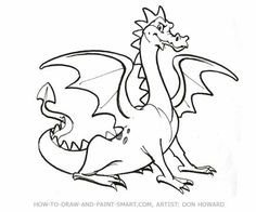 Sketches of dragons how to draw a flying dragon dragon in how to draw a dragon step 6 ccuart Image collections