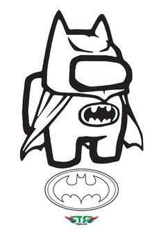 Among Us Batman Logo Character Coloring Page Christmas Unicorn, Unicorn Halloween, Halloween Books, Coloring Apps, Coloring For Kids, Adult Coloring, Logo Character, Princess Celestia, Batman Logo