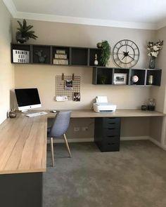 That desk design. That desk design. Related posts: That desk design. Best Two Person Desk Design Ideas for Your Home Office Workspace 21 Awesome DIY Desk Organizers, die das Beste aus Ihrem Büro machen …. Mesa Home Office, Home Office Space, Office Room Ideas, Desk Ideas, Diy Office Desk, Diy Desk, Bedroom Office, Basement Office, Bedroom Desk