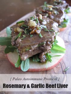 AIP / Paleo Rosemary & Garlic Beef Liver Appetizer