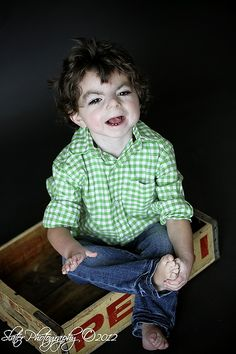 This is Vinny.  He has Cornelia de Lange Syndrome (CdLS).  Please go to www.cdlsusa.org for more information.