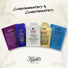 Enter any Kiehl's store and you'll immediately be welcomed by one of our KCRs, who will provide you with a complimentary skin consultation and samples of products to complete your Healthy Skin Routine. Can't make it in store? No worries. Choose three samples with any online order.