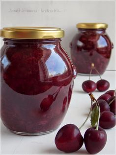 Hungarian Recipes, Gourmet Gifts, Sugar Free Recipes, Bottles And Jars, Diy Food, No Bake Cake, Food To Make, Cherry, Spices