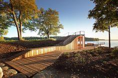 Arquitectura y Paisaje: Terraza con Vistas y Pabellón por Didzis Jaunzems + Laura Laudere / Jaunromans y Abele