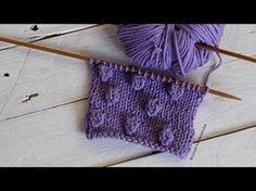 Cómo tejer Bodoques, Bolitas, Borlas, Garbanzos en dos agujas - YouTube