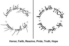 Elvish - Top 500 Best Tattoo Ideas And Designs For Men and Women Mini Tattoos, New Tattoos, Cool Tattoos, Tolkien Elvish, Elvish Writing, Elvish Tattoo, Fictional Languages, Lord Of The Rings Tattoo, Modern Tattoos