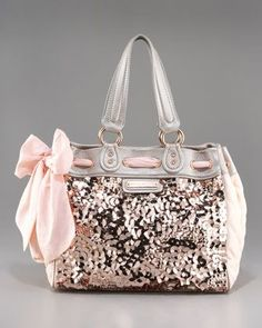 Cute bag...color and bling an doesn't look too large.
