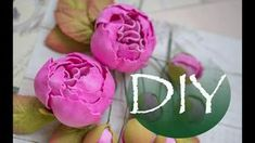 Пионы из фоамирана DIY Tsvoric Peonies from foma Tissue Flowers, Giant Flowers, Crepe Paper Flowers, Clay Flowers, Fabric Flowers, Foam Crafts, Diy And Crafts, Paper Crafts, Fleurs Style Shabby Chic