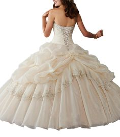 76717d6b77 Leho Women s Strapless Ball Gown Quinceanera Dresses with Crystals    Remarkable product available now.