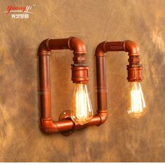 Water pipe wall light