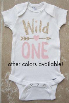Wild One Tribal Arrow Heart First Birthday by noellebydesign