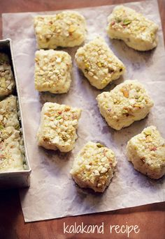 kalakand recipe - moist, granular two ingredient kalakand recipe in 15 minutes. made with paneer and sweetened condensed milk.