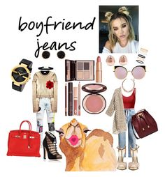 """""""Untitled #55"""" by rannegomez on Polyvore featuring Doublju, Filles à papa, Off-White, Chloe Gosselin, Yves Saint Laurent, Michael Kors, Hermès, Gucci, Humble Chic and Monica Vinader"""