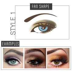"""The main idea is to pick out 3 shades of the same color and blend it over your lid like a """"fan"""".  Starting from the outer corners, pack on a dark color until you reach 1/3rd of your eye. Use a medium toned color for the middle 1/3rd and finally use a light color on the inner corner. Blend it out with a Blending Brush. You should use a variation of glitter and matte eyeshadow colors to make your eyes pop. Don't forget to use a light color underneath your brow arch."""
