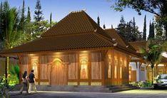 45 Desain Rumah Joglo Khas Jawa Tengah Cabin Design, House Design, Gazebo Pergola, Entry Gates, Tropical Houses, Traditional House, Home Fashion, Pavilion, Bungalow