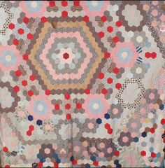 Victorian unfinished hexagonal patchwork