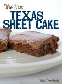 The Best Texas Sheet Cake Recipe. This is so delicious and feeds a crowd!