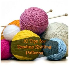 10 Tips for Reading Knitting Patterns