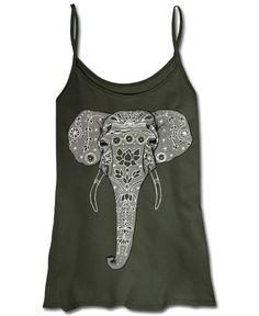 Elephant Tank Top: Soul Flower Clothing #letlifeflow #soulflowercontest