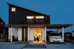Minimalist Design is not just plain, but it is just Simply Beautiful. Minimalism is one of the Best way to Design Your Home. Carport Designs, Compact House, Weekend House, Box Houses, Loft Design, Small House Design, Japanese House, Facade Architecture, Facade House