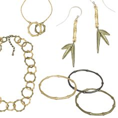 New for Spring 2017 is Michael Michaud's Bamboo collection. The jewelry features hand-patinaed bronze and matte gold accented with freshwater pearls.  A serenity and calmness falls on those gazing upon Bamboo that brings an inner peace to all that embrace it. It has come to symbolize strength, an acceptance of natural flow and openness to wisdom in emptiness.