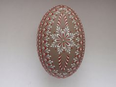 Hand Decorated Goose Egg Easter Egg Pysanka