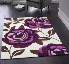 Blossom Plum Rugs | Modern Rugs