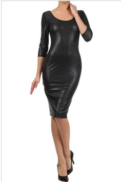 KIM K leather dress, $35.00 by Appealing Boutique