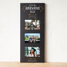Let The Adventure Begin Multi Photo Graduation Picture Frame