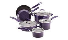 Durable and fashionable, this nonstick cookware set has a two-tone finish and…