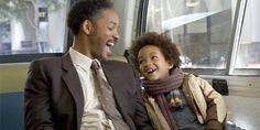 29 oktober 2013: Happy. Foto:  Will Smith als Chris Gardner en Jaden Smith als Christopher  in  The Pursuit of Happyness (2006)