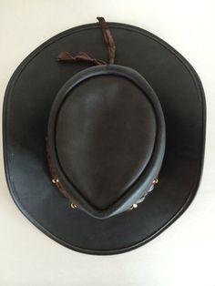 9b32bf71748 Cowboy Hat Australia   Barmah Hats   Rich and Worn Leather Patina w  Crocodile and Animal Teeth Band