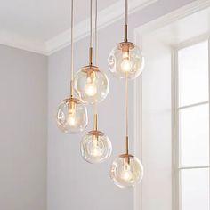 Alexis 5 Light Cluster Fitting Iridescent | Dunelm Pendant Lighting Bedroom, Loft Lighting, Drop Lights, Light Fittings, Iridescent, Cleaning Wipes, Bulb, Ceiling Lights, Luxury