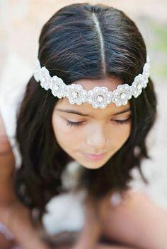 Flowergirl headpiece  https://www.etsy.com/listing/173952764/mia-rhinestone-beaded-headpiece
