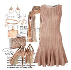 Rose Gold Magic by kateo on Polyvore featuring polyvore, fashion, style, Miss Selfridge, Michael Kors, Givenchy, Alexander McQueen, clothing, rosegold and 6281