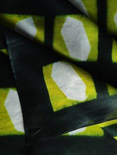 Green Clamp Dye Chanderi Dupatta   This vibrant chanderi dupatta is is created using the clamp-dyeing technique, a form of shibori dyeing, which involves creating patterns by folding the fabric using a wood-resist and holding it together with a clamp.