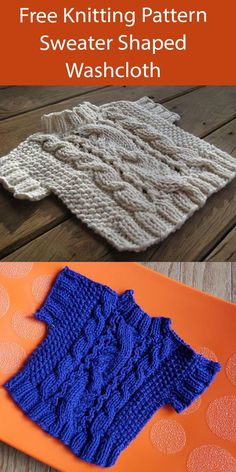 Knitting Humor, Free Knitting, Girls Sweater Dress, Jumper, Scrubby Yarn, Dishcloth Knitting Patterns, Aran Weight Yarn, Cloth Flowers, Seed Stitch