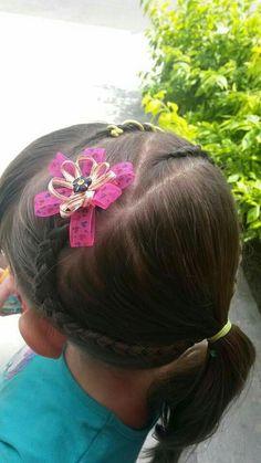 Peinado de niña - infantil - peinando a mi hija en casa