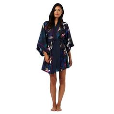 cbd5430064fdcf B by Ted Baker Navy floral print  Midnight Bloom  kimono